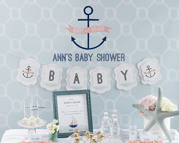 personalized photo booth backdrop kate 39 s nautical baby shower